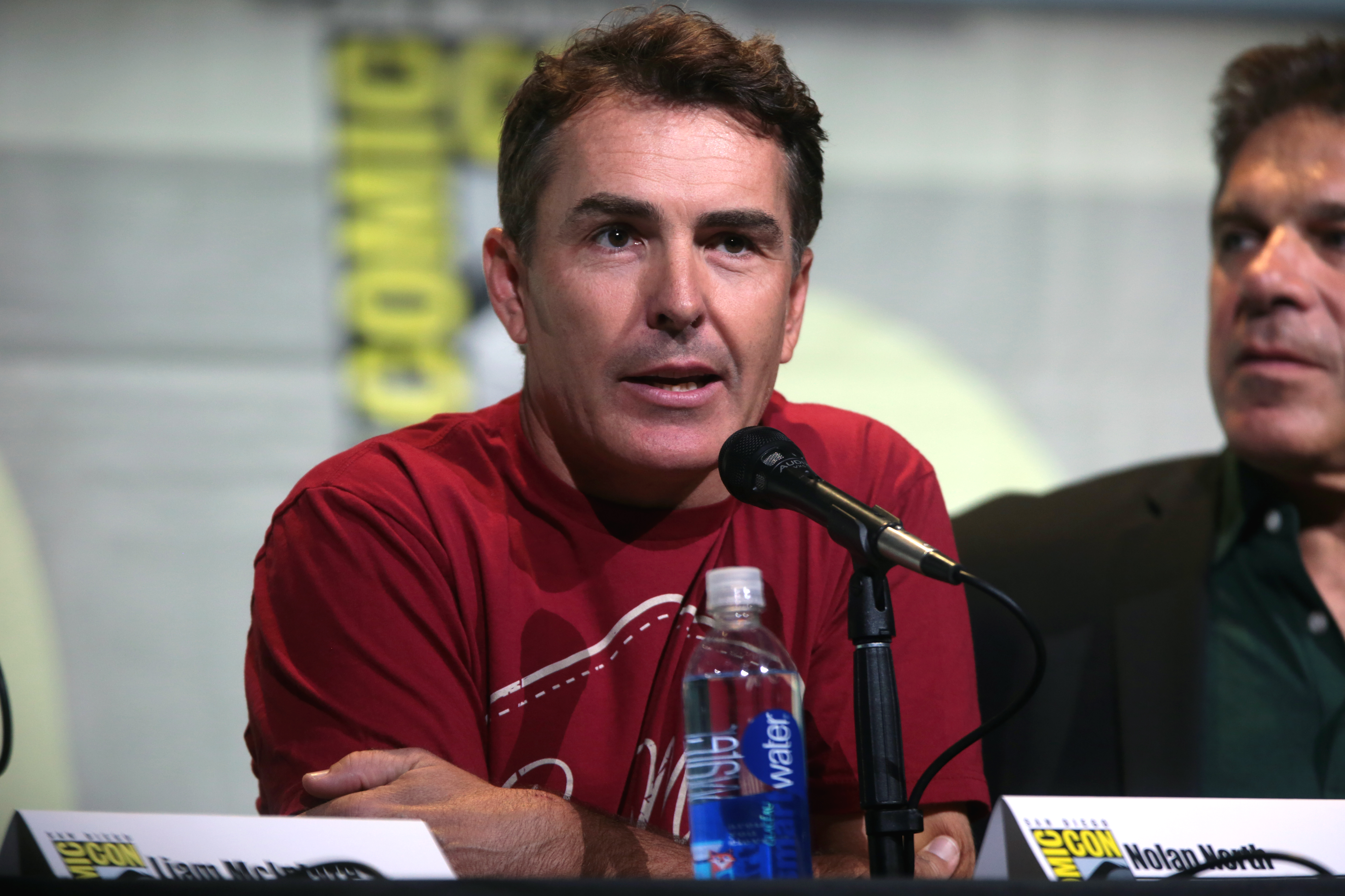 The 47-year old son of father (?) and mother(?) Nolan North in 2018 photo. Nolan North earned a  million dollar salary - leaving the net worth at 1 million in 2018