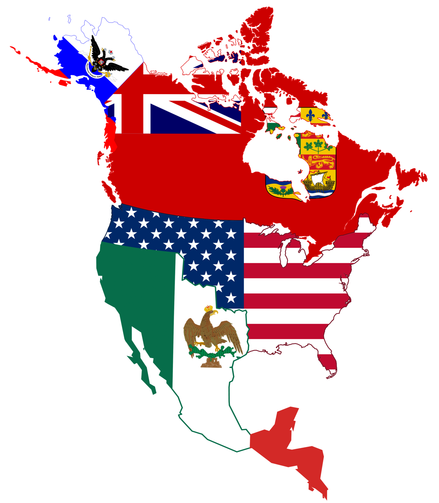 File North American Historic Flag Map Png Wikimedia Commons