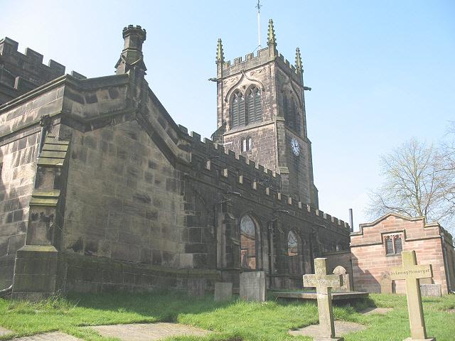 North side of St Mary's church, Sandbach - geograph.org.uk - 1265083