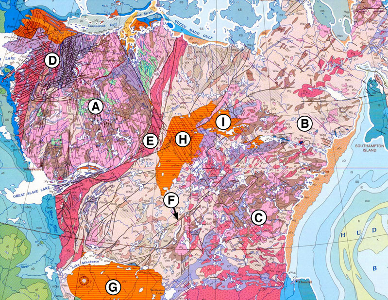 Wopmay Orogen Wikipedia - Map of the us canadian shield