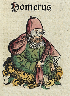 Homer as depicted in the 1493 Nuremberg Chronicle Nuremberg chronicles f 043r 1.png
