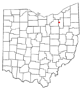 Location of Montrose, Ohio