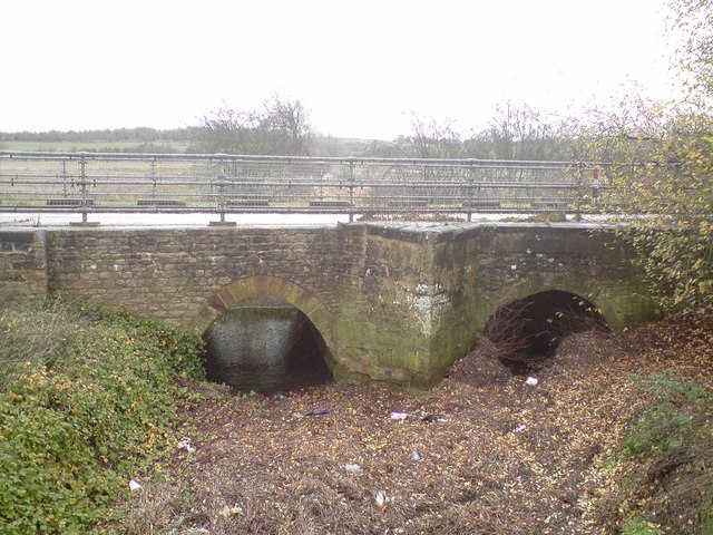 File old a508 road bridge over river tove drainage channel geograph