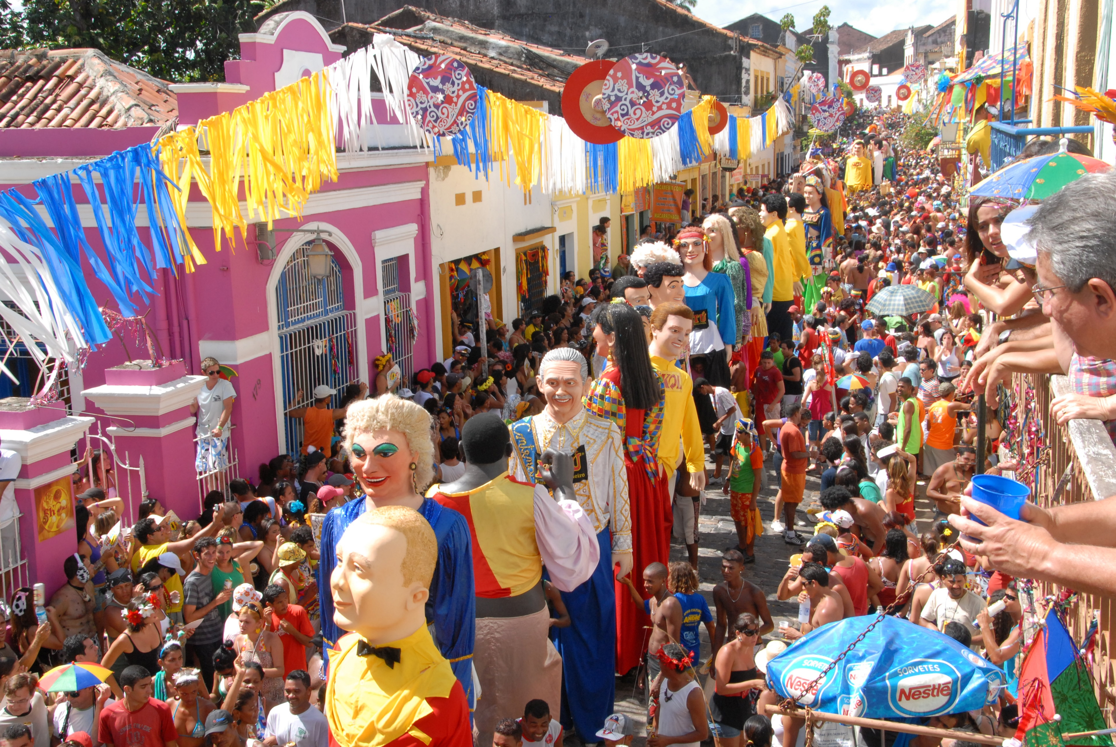 Don't miss out on this festive carnival of Olinda. Source: Wikimedia