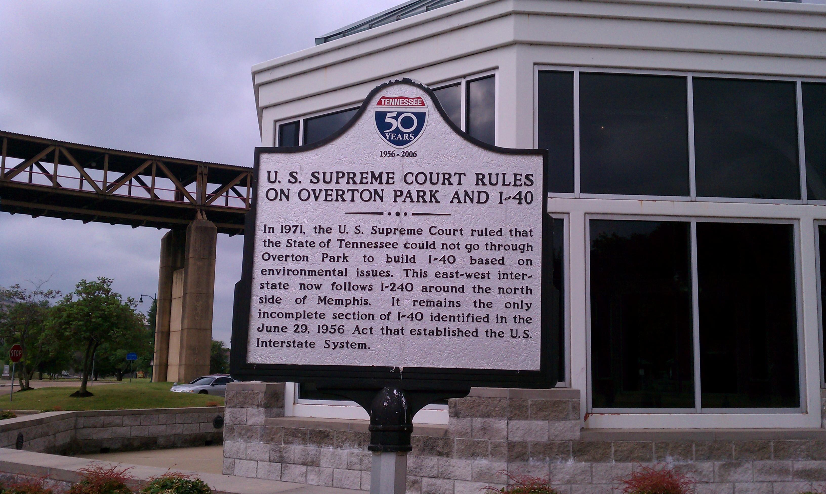 Description overton park supreme court ruling