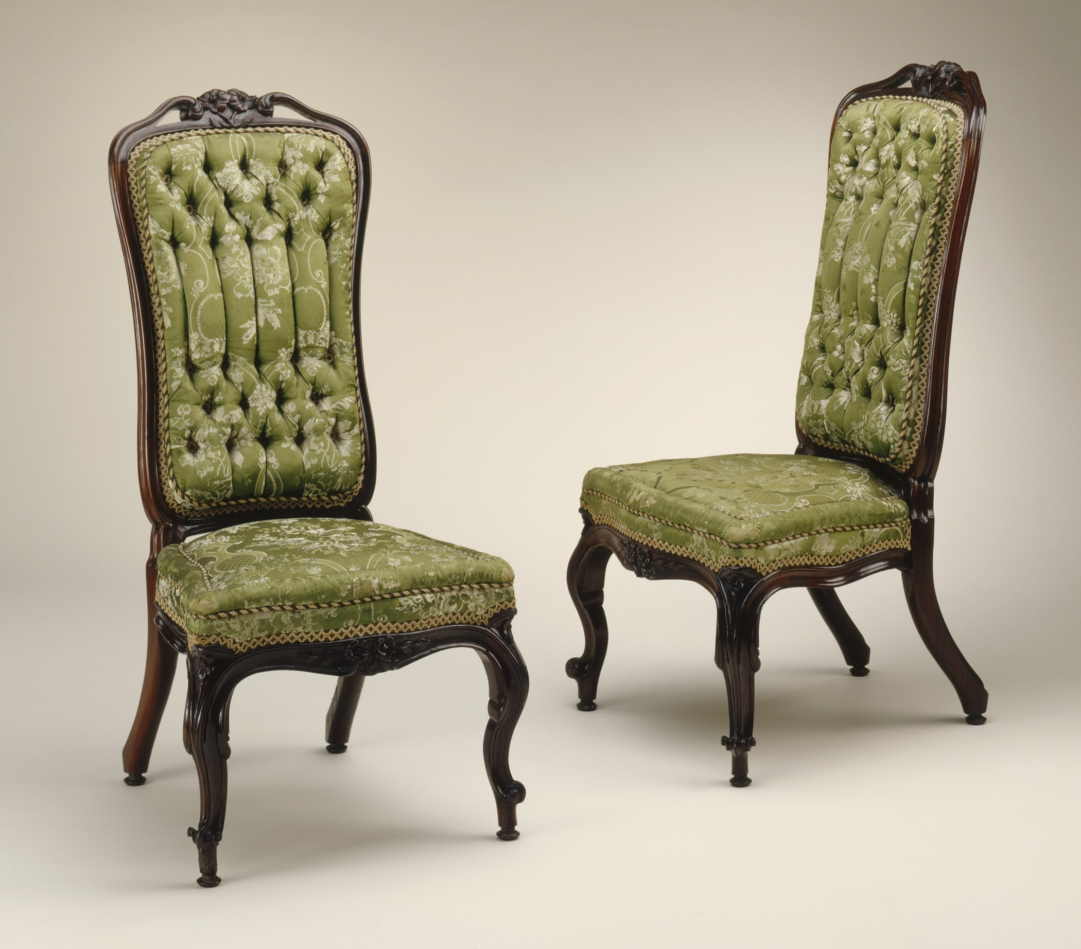 File Pair of Rococo Revival Slipper Chairs LACMA M 57 27 2a b