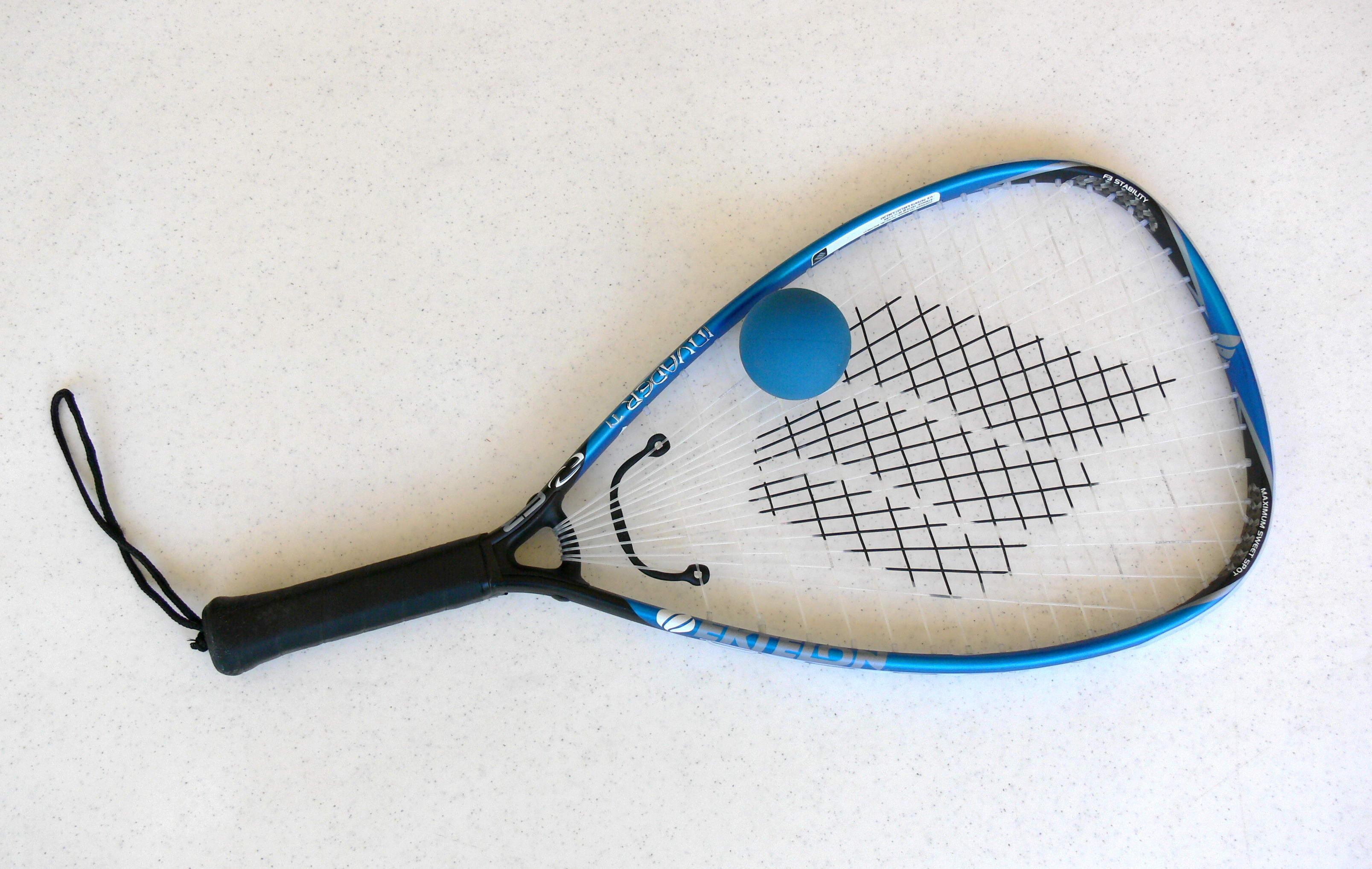Resultado de imagen para raquetbol pelota y raqueta