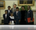 Ronald Reagan and Stanislas Batchi family.png