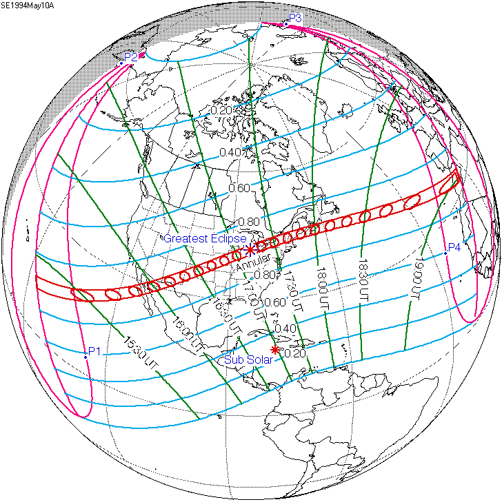 Current Eclipse Map.Solar Eclipse Of May 10 1994 Wikipedia