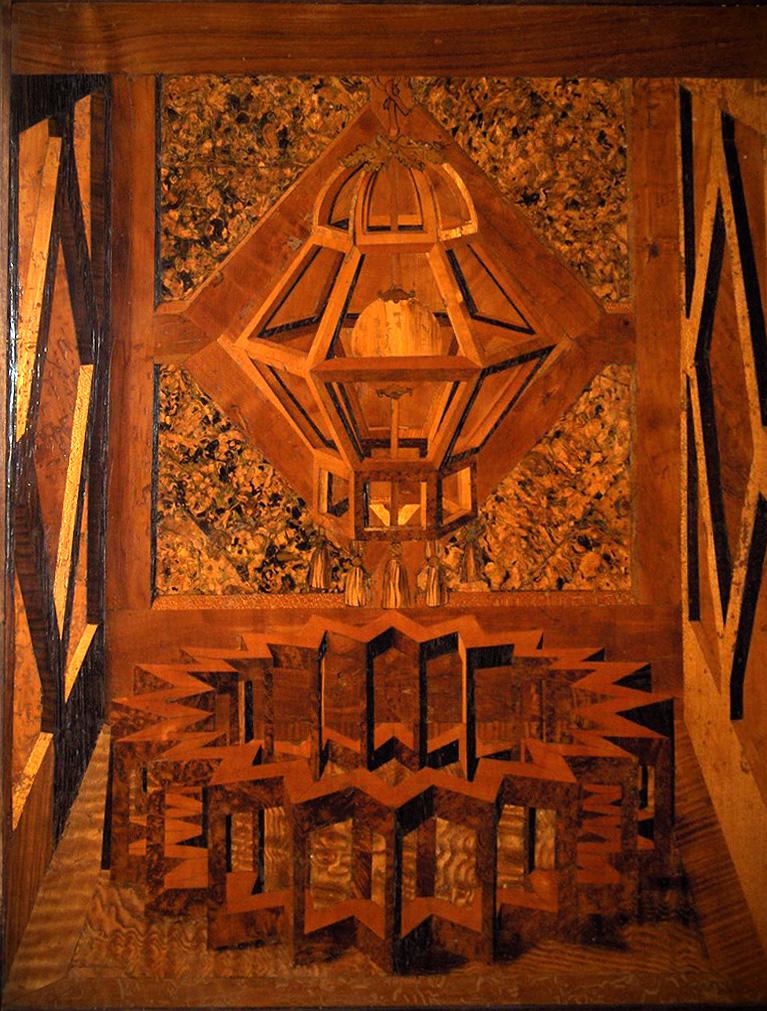 Intarsia wikipedia for Mobili wooden art
