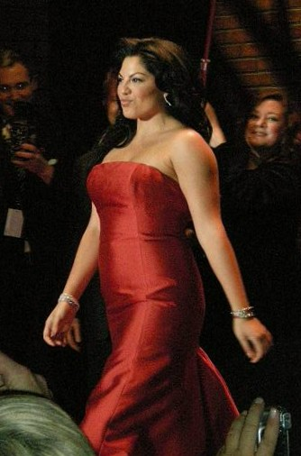 Sara Ramirez modeling at the Red Dress Collect...