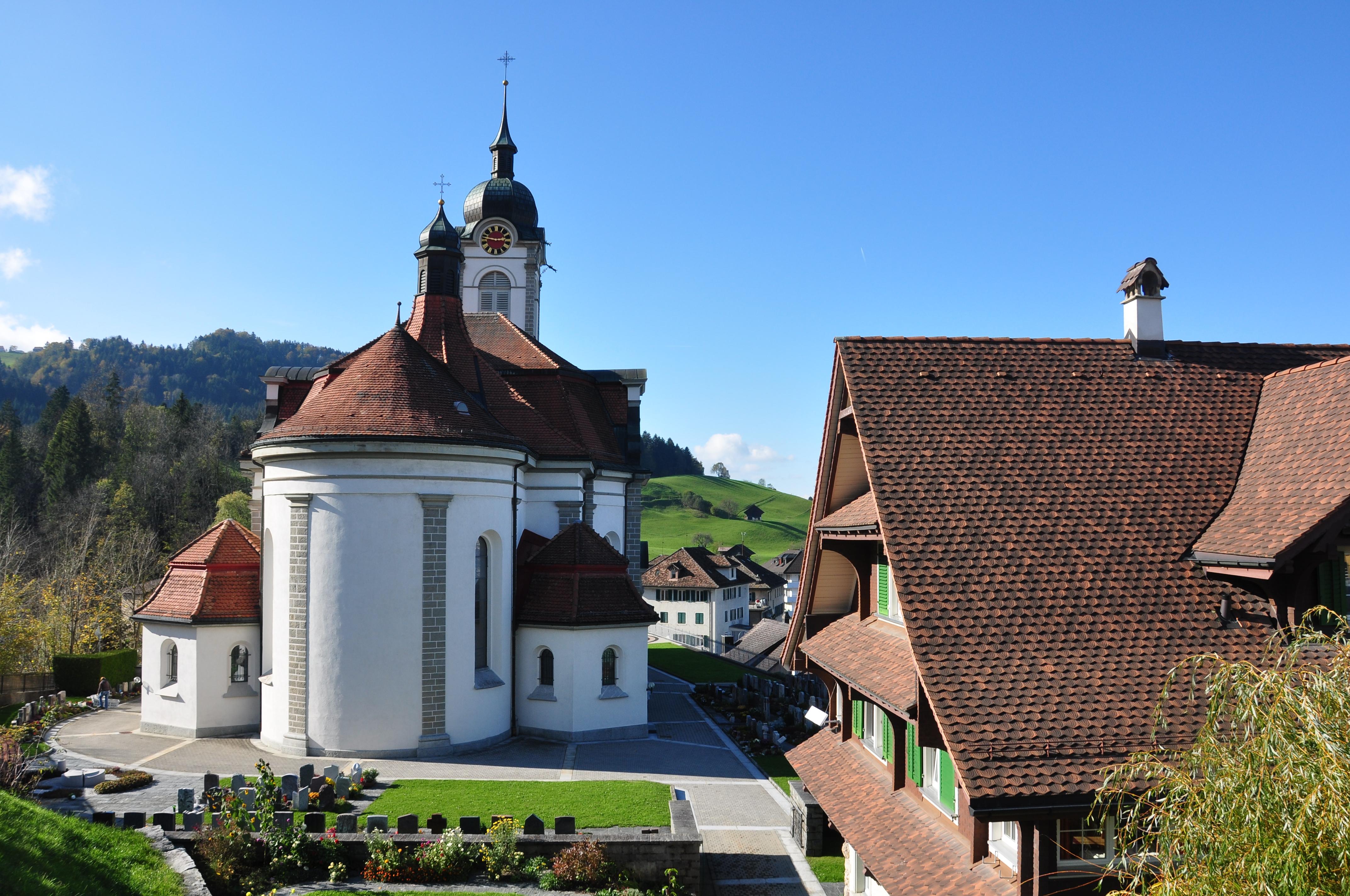 Schindellegi Switzerland  City pictures : Description Schindellegi St. Anna Kirche Etzel 2010 10 21 14 47 52 ...