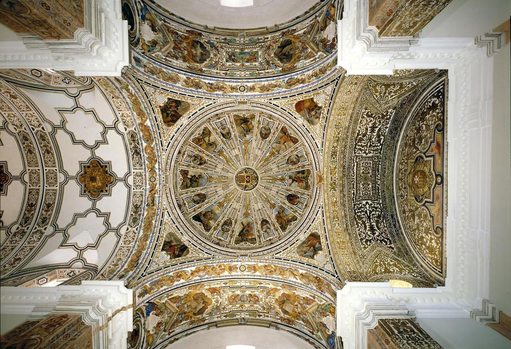 Coupole du couvent du musée des Beaux Arts de Séville. Photo de PMRMaeyaert