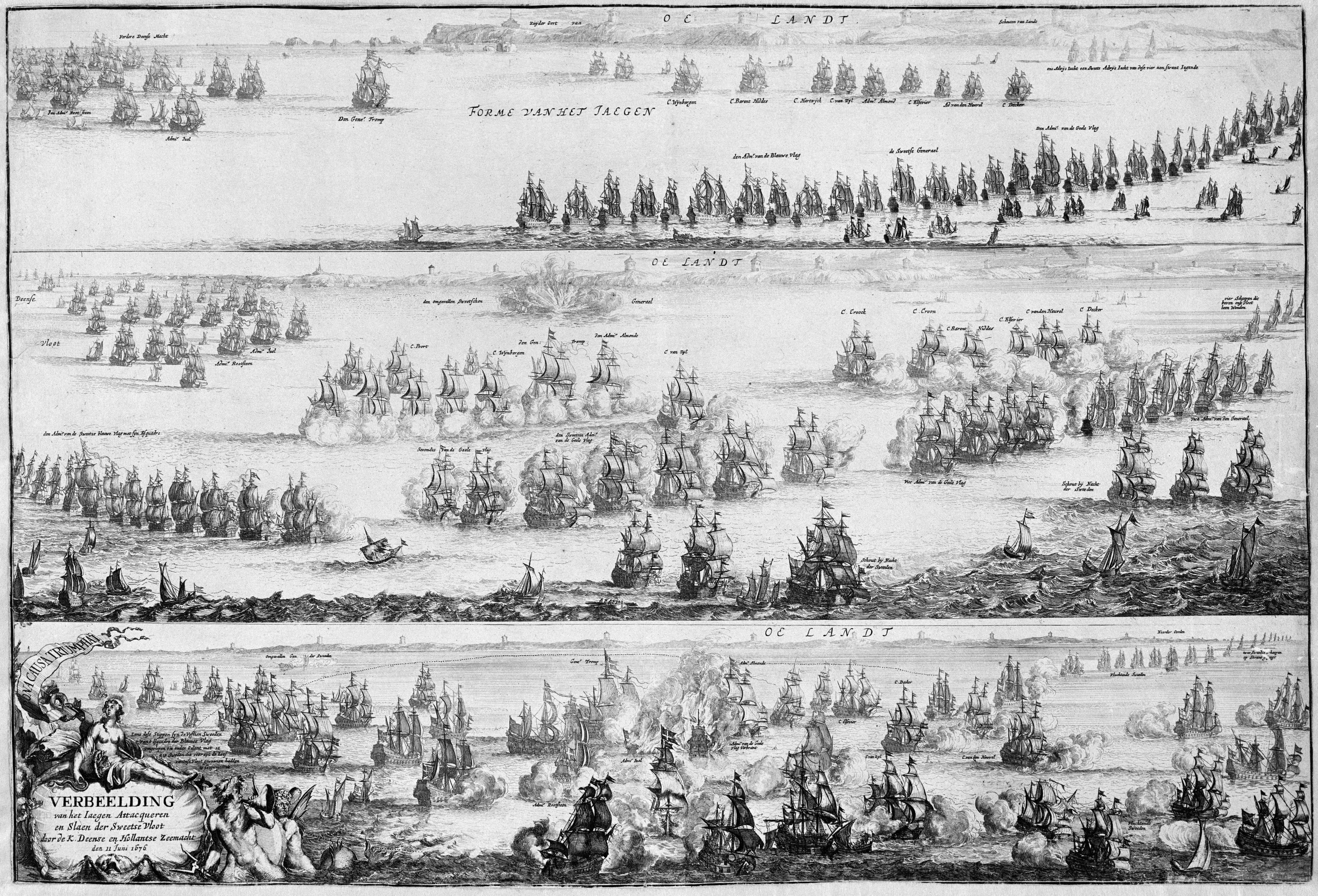 File:Slag bij Öland - Battle of Öland in 1676 (Romeyn de Hooghe)