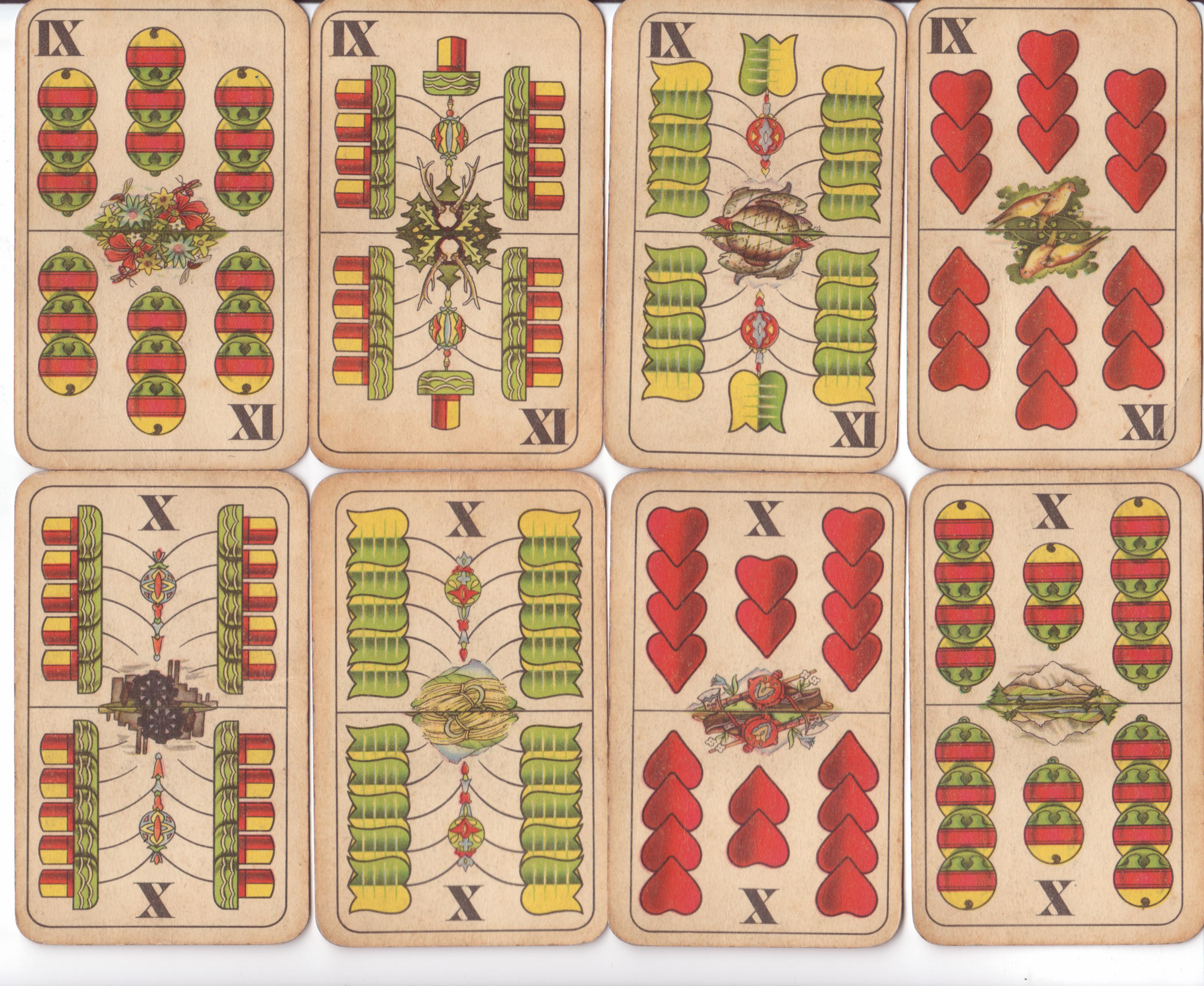 Slovak communist playing cards cca 1950-1960