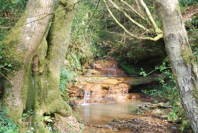 Small waterfalls near Caller's Corner - geograph.org.uk - 1251739