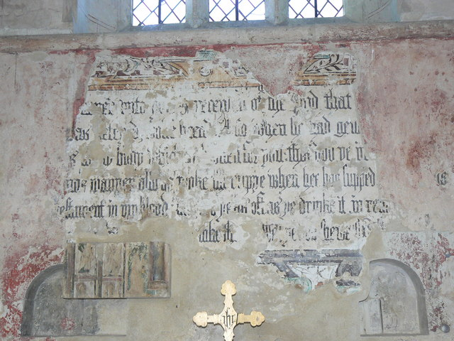 File:St John the Baptist Church, Inglesham, Wiltshire - wall painting - geograph.org.uk - 243514.jpg