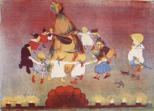 Stanisław Kuczborski Taniec wokół chochoła 1904