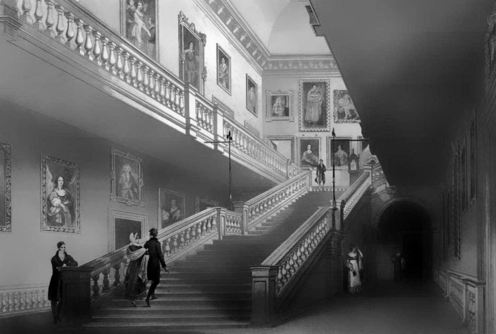 Grand Hallway Paintings On Wall