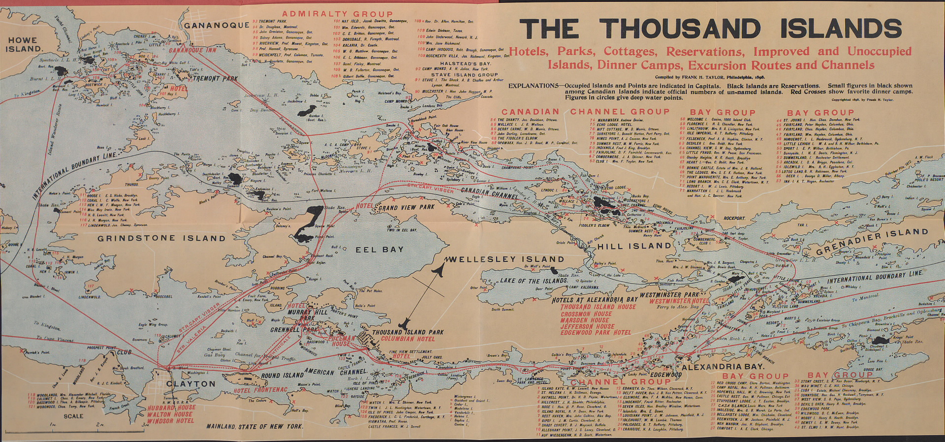 Thousand Island Map Canada Usa Thousand Islands   Wikipedia