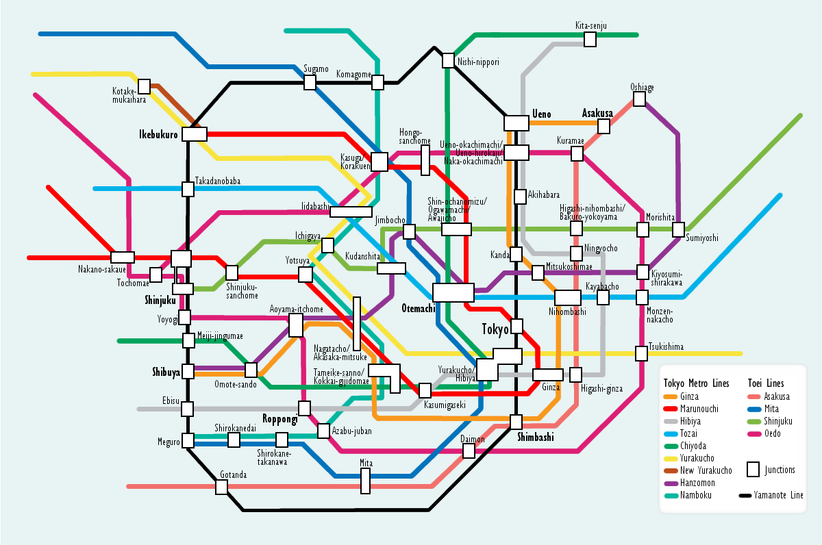 Toei Subway Map Pdf.File Tokyo Subway Map Png Wikimedia Commons