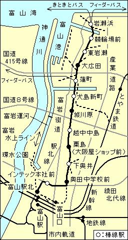 富山 → 魚津|乗換案内|ジョルダン