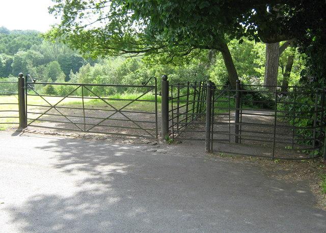 Two gates, Cuerdon Valley - geograph.org.uk - 1385057