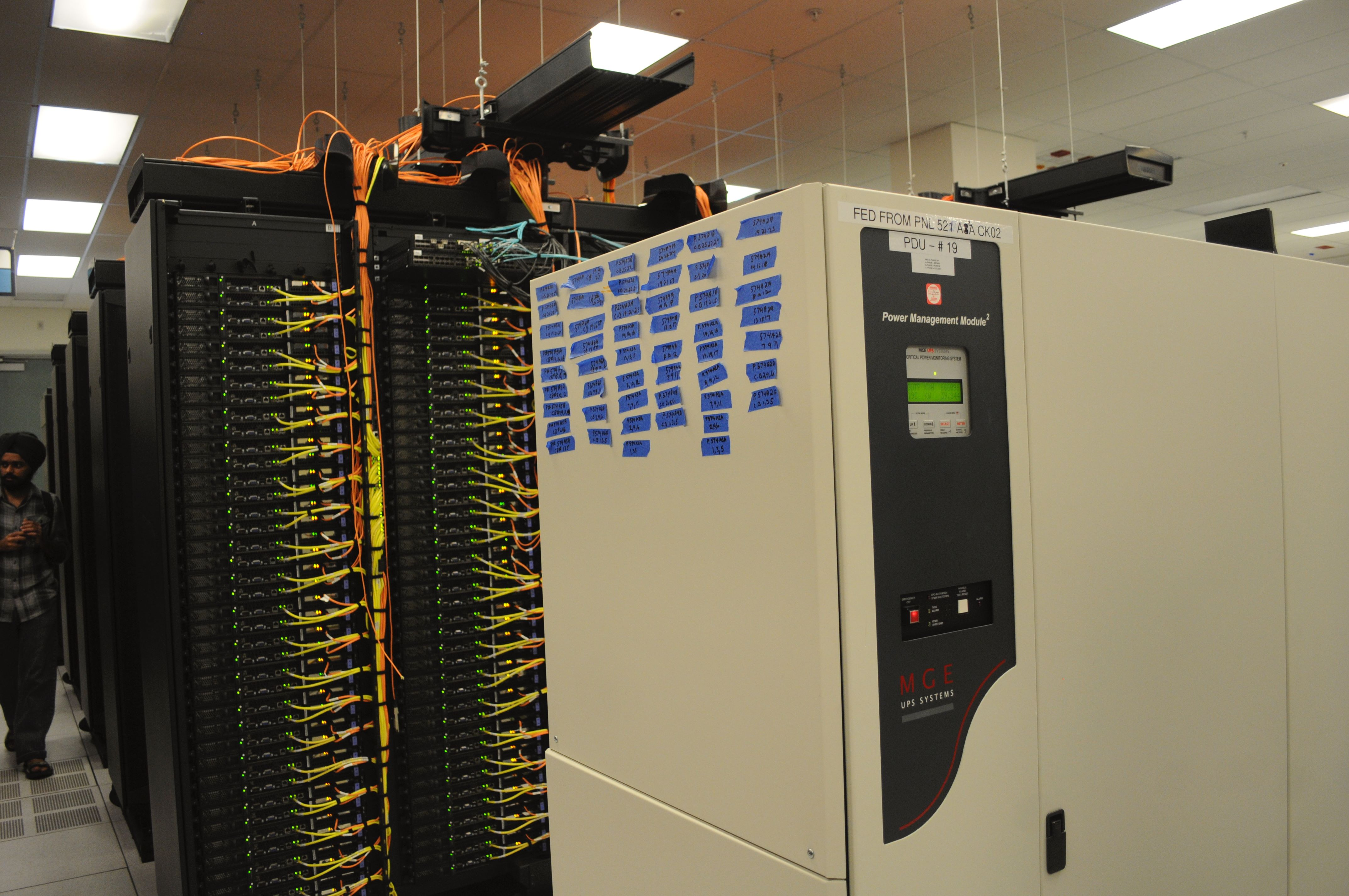 Fileups Power Management Module Racks With Network Cabling In Data Center Wiring Nersc