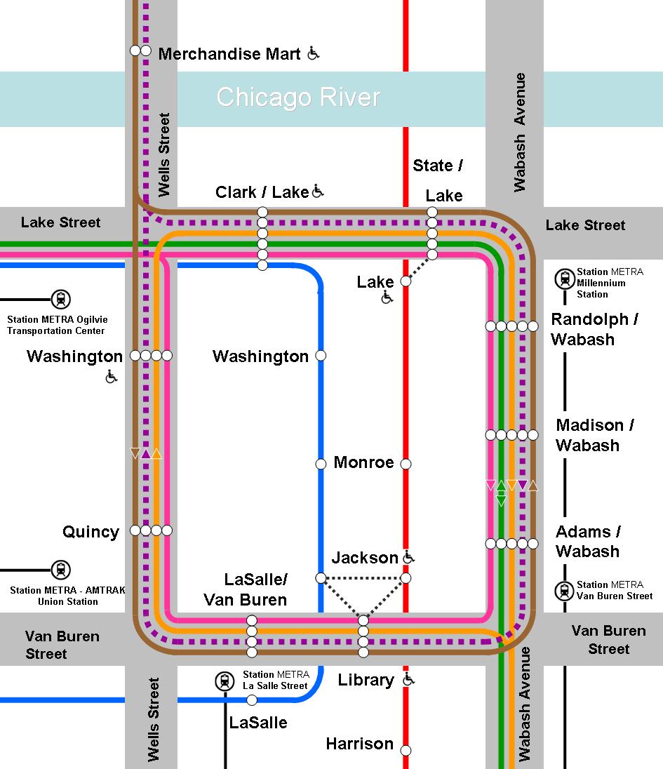 Diagram Album L Map Chicago Download More Maps Diagram And - Chicago union map