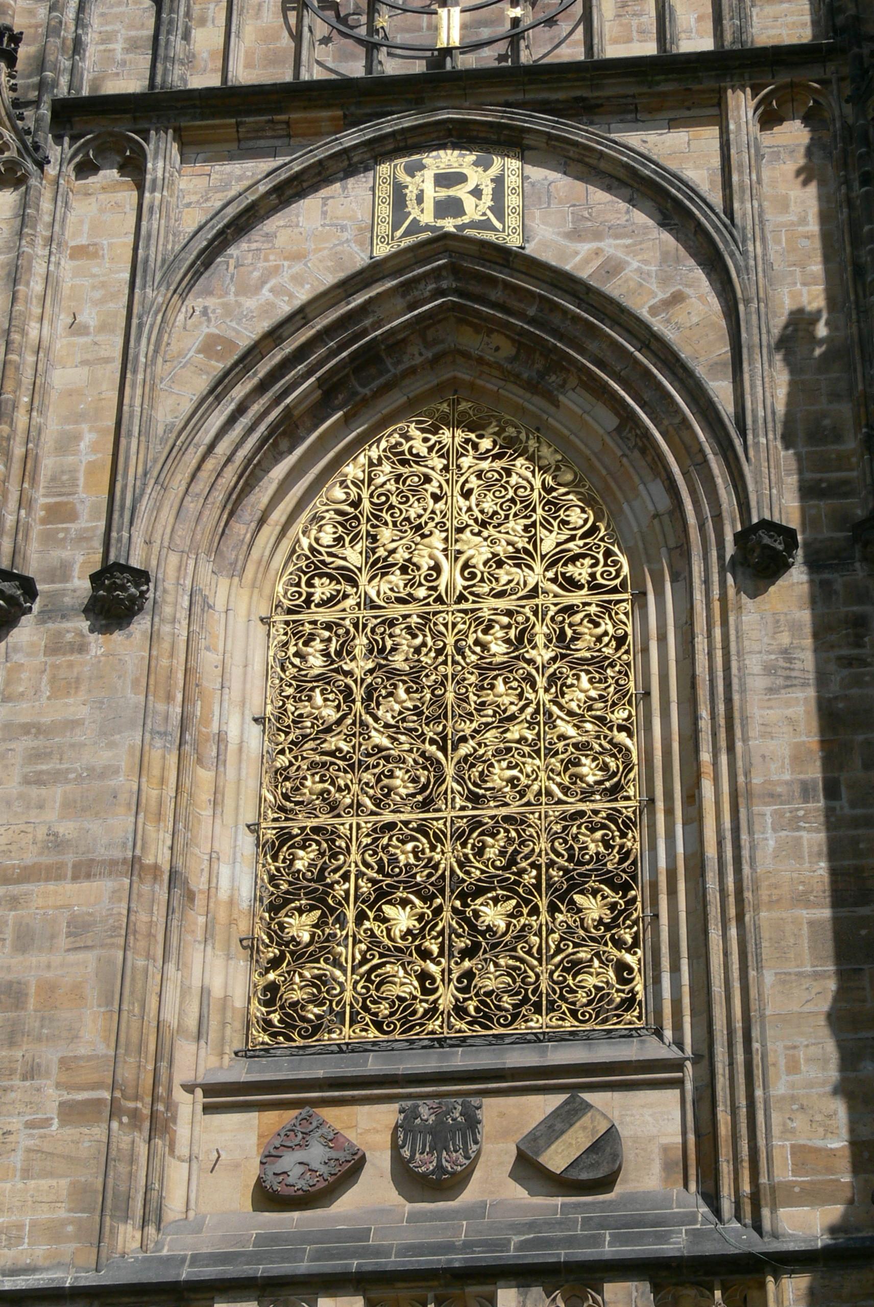 File veitsdom kirchturm 1 goldenes for Fenster wiki