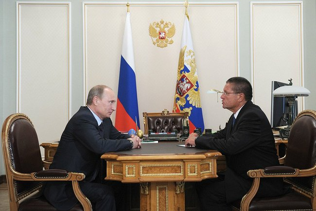 Vladimir Putin and Alexey Ulyukaev 24 June 2013 01