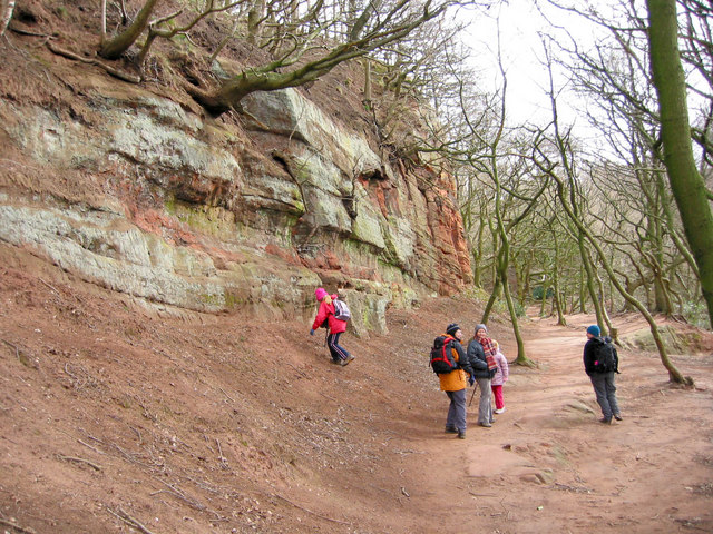 Walking on the Sandstone Trail - geograph.org.uk - 734044
