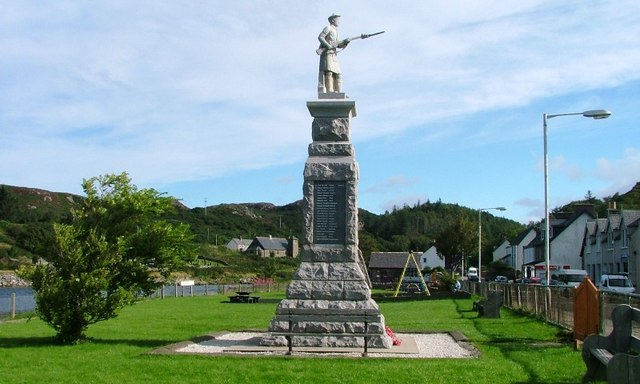 File:War Memorial, Lochinver - geograph.org.uk - 229372.jpg