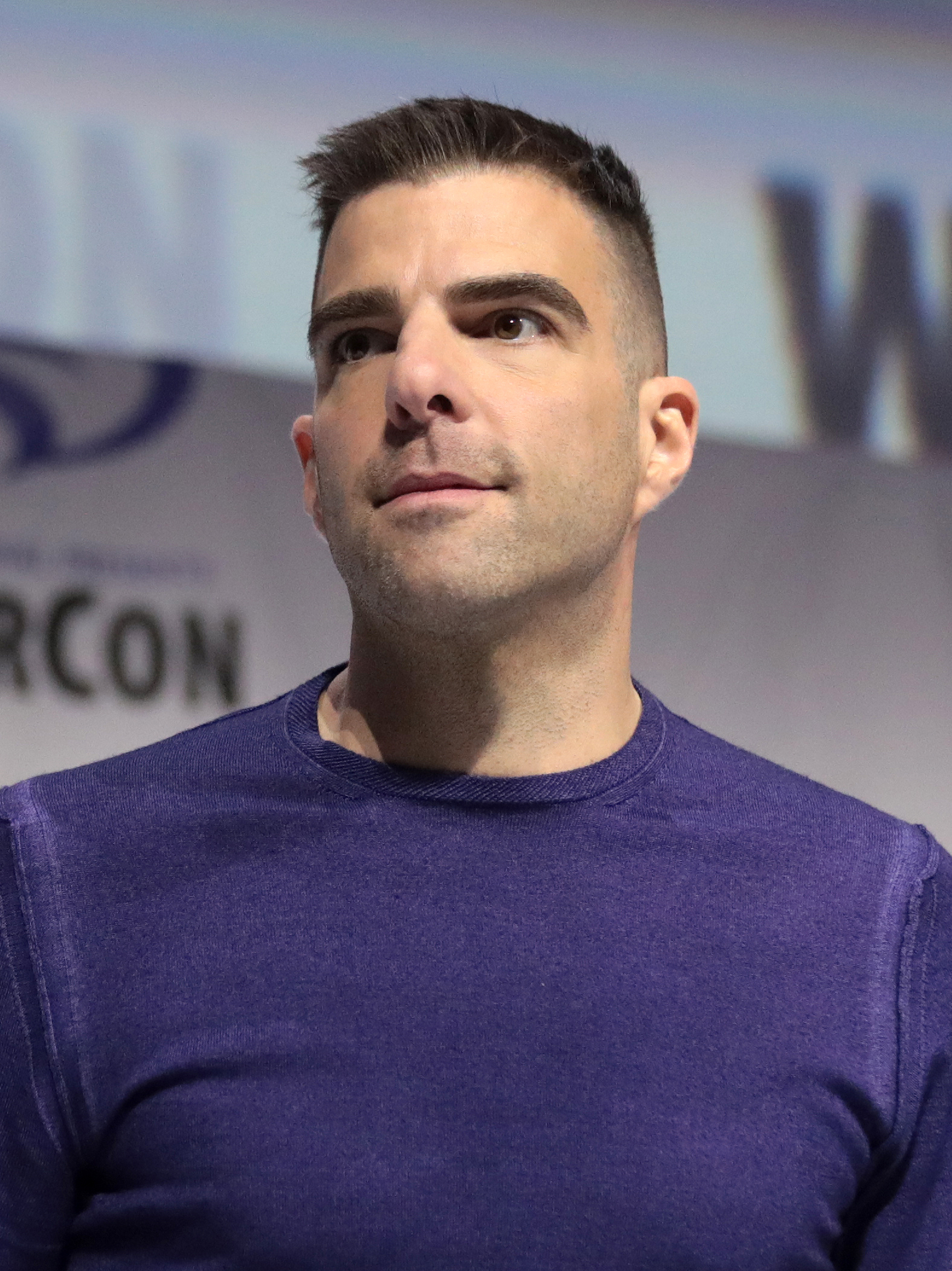 """The 42-year old son of father  Joseph John """"Joe"""" Quinto  and mother Margaret J. Quinto Zachary Quinto in 2019 photo. Zachary Quinto earned a  million dollar salary - leaving the net worth at 14 million in 2019"""