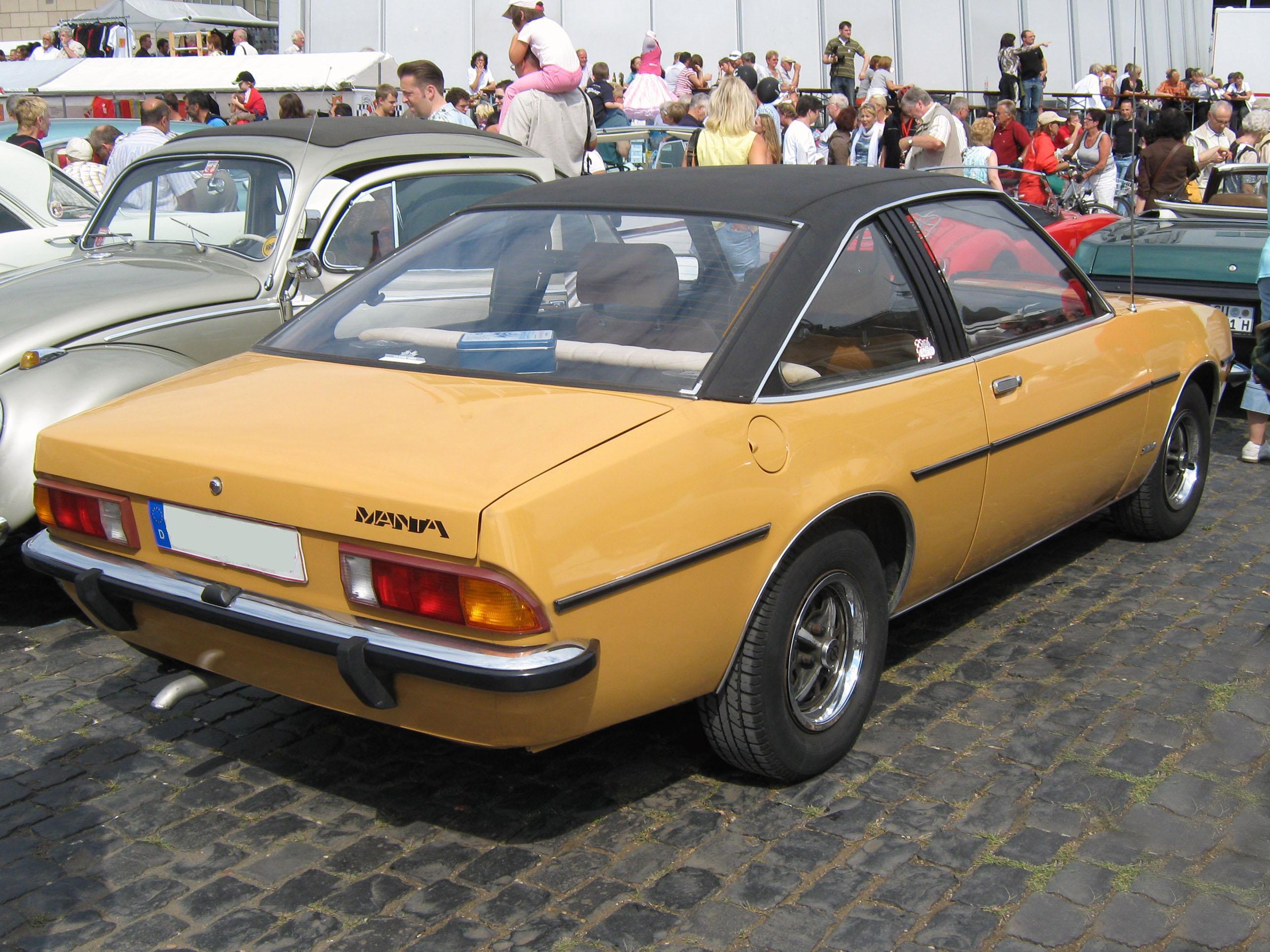 Opel Manta B >> File:1975 Opel Manta B Heck.jpg - Wikipedia