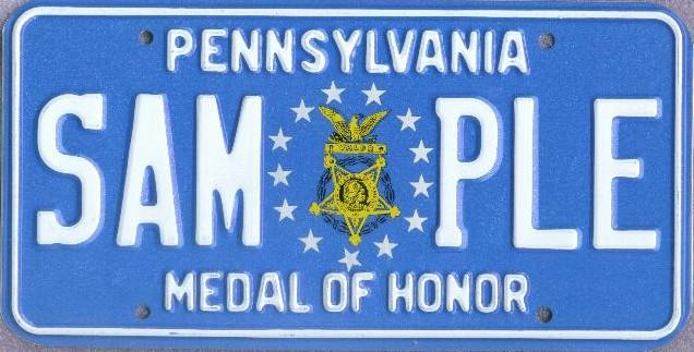 File:1987 Pennsylvania license plate Medal of Honor sample jpg