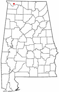Location of Underwood-Petersville, Alabama