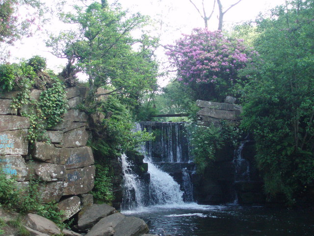 Afan Llan Waterfall at Valley wood , Penllergaer - geograph.org.uk - 982154