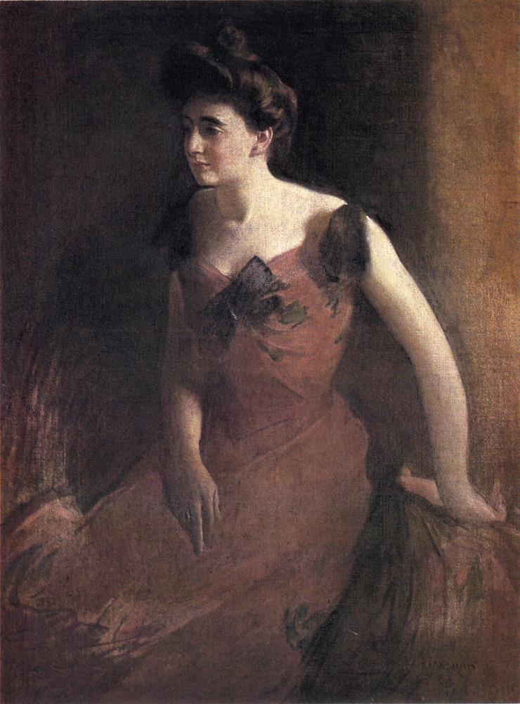 Александр Джон Белая женщина в красном Dress.jpg