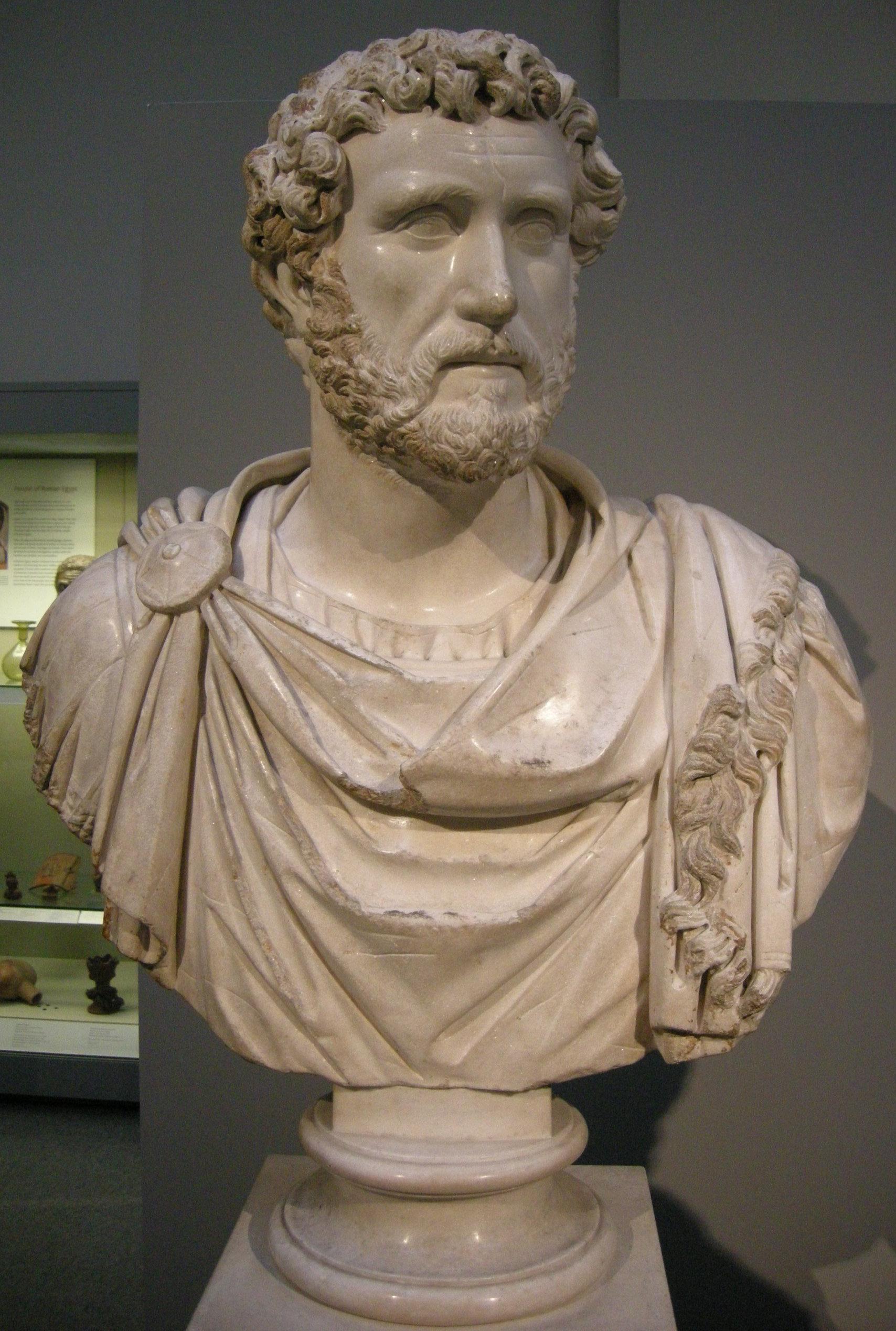 datei arte romana busto di antonino pio da cirene libia 140 circa jpg wikipedia. Black Bedroom Furniture Sets. Home Design Ideas