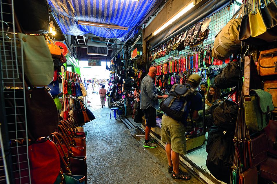 Shopping stall in Chatuchak Market