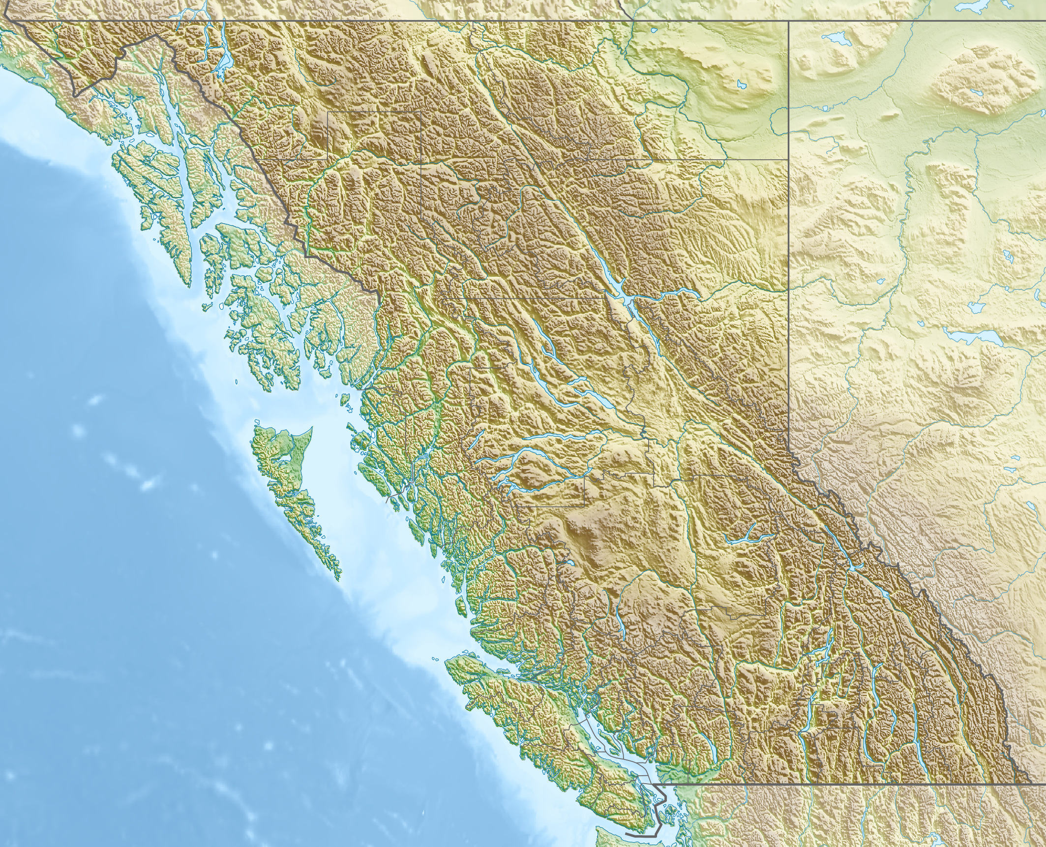 FileCanada British Columbia Relief Location Mapjpg Wikimedia - Relief map of canada