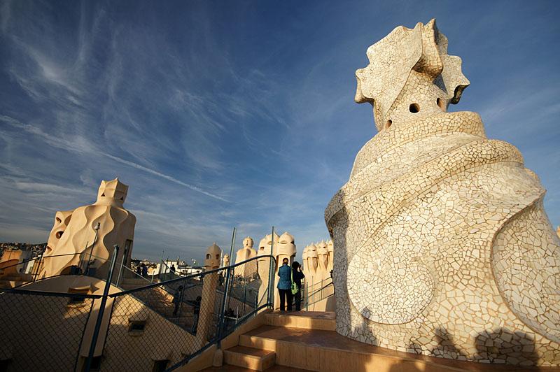 Gaudi in Barcelona: Casa Mila // La Pedrera |Casa Mila Roof