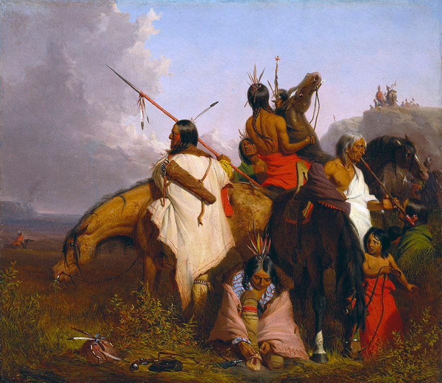 A Group of Sioux by Charles Deas