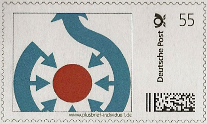 Commons logo on a German stamp