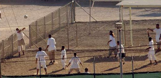Compliant captives are allowed to play soccer in Guantanamo.jpg