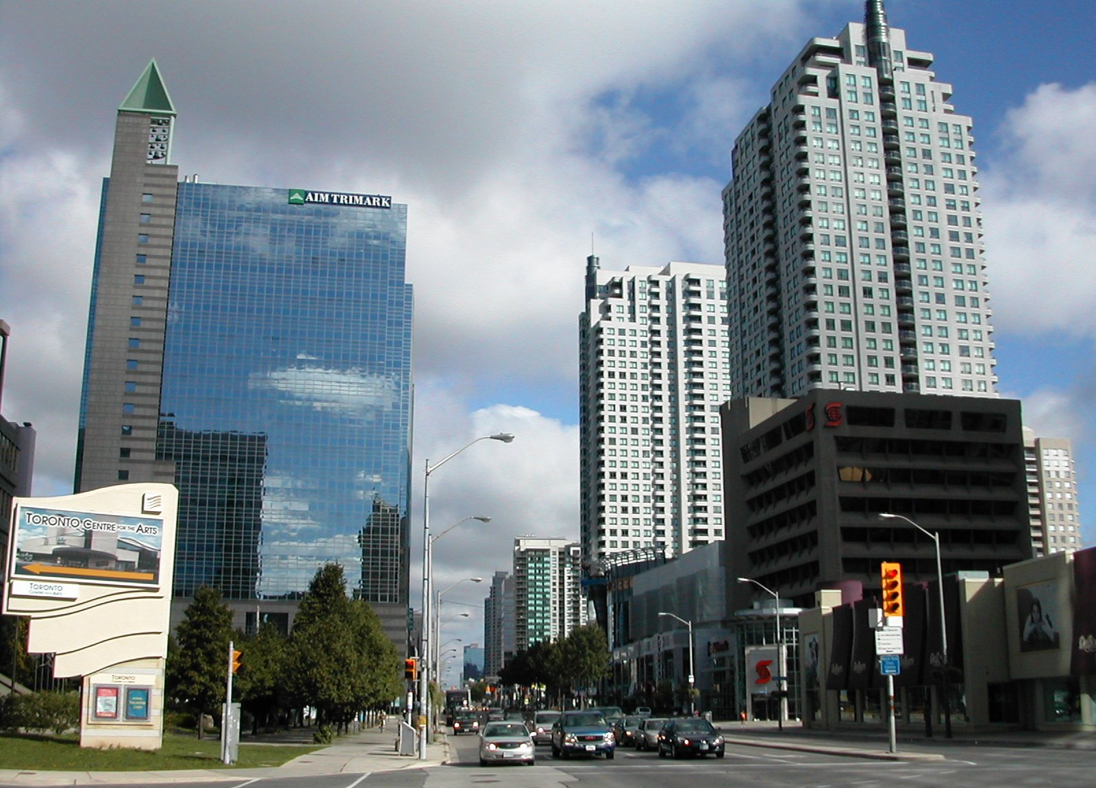 A picture of downtown North York.