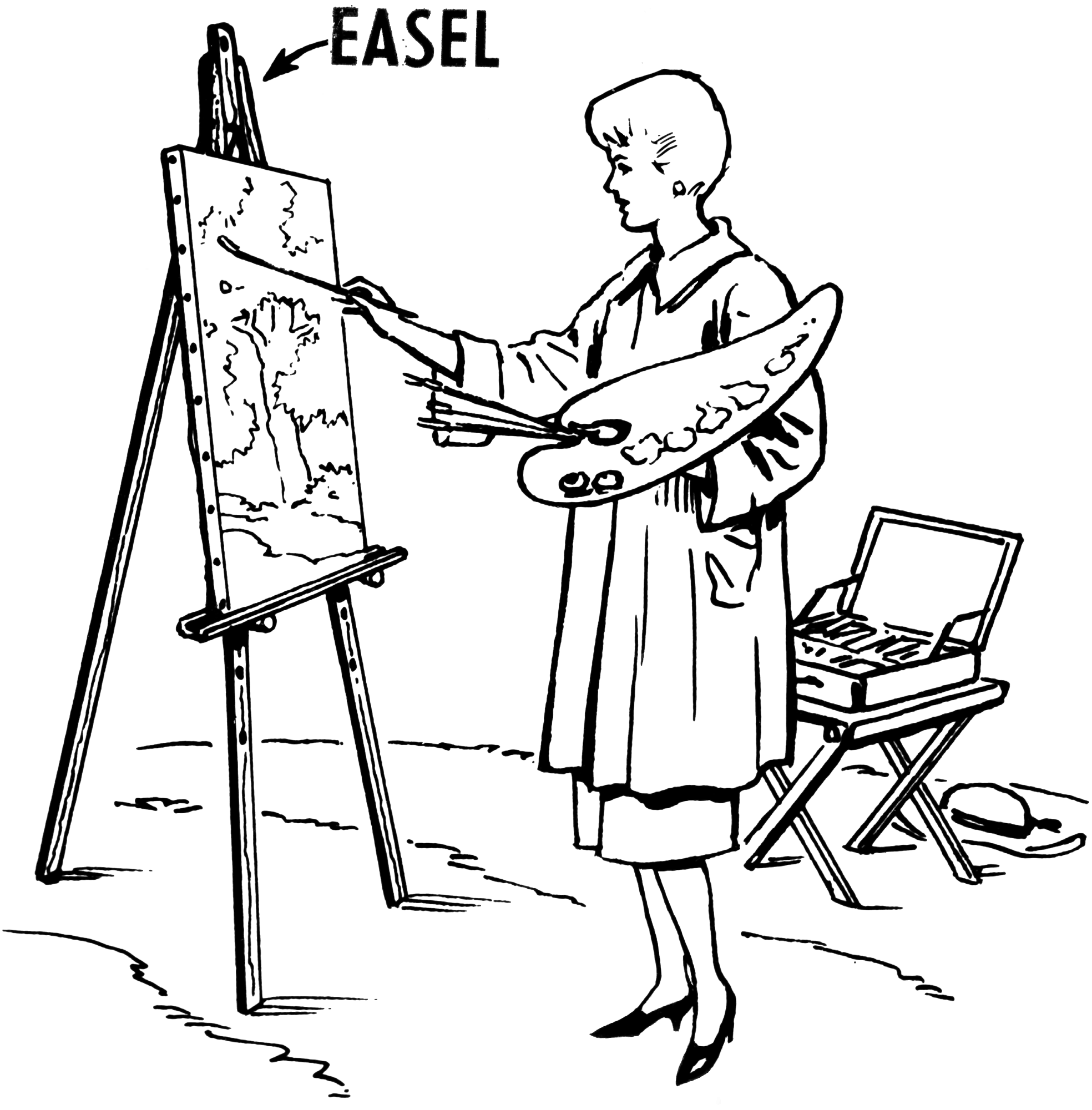 File easel 1 psf png wikimedia commons for Artiste dessin