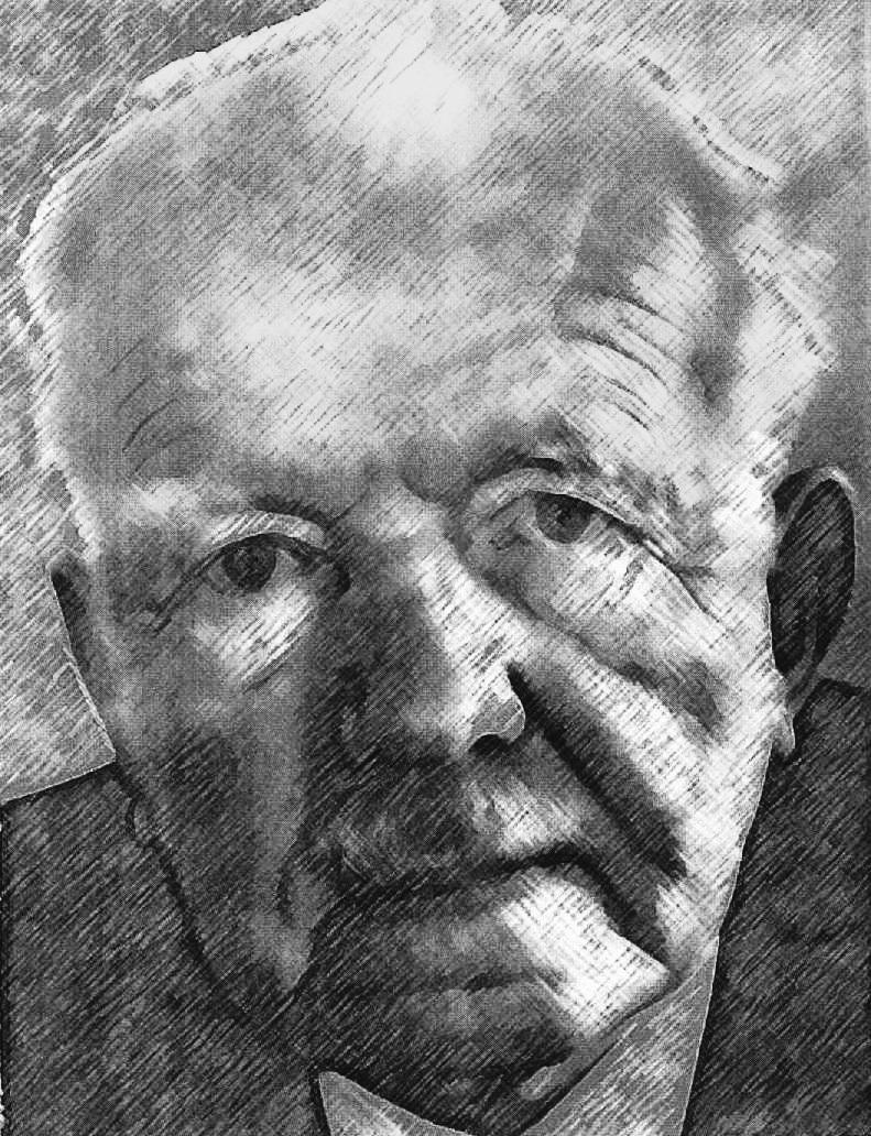 A sketch of Eduard Spranger.