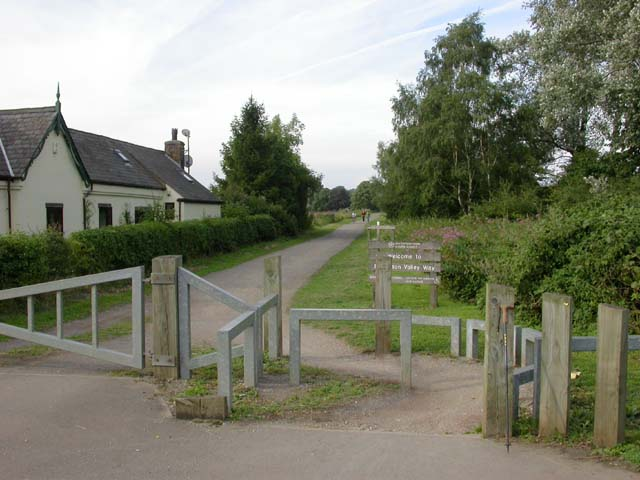 Entrance to the Brampton Valley Way - geograph.org.uk - 223423